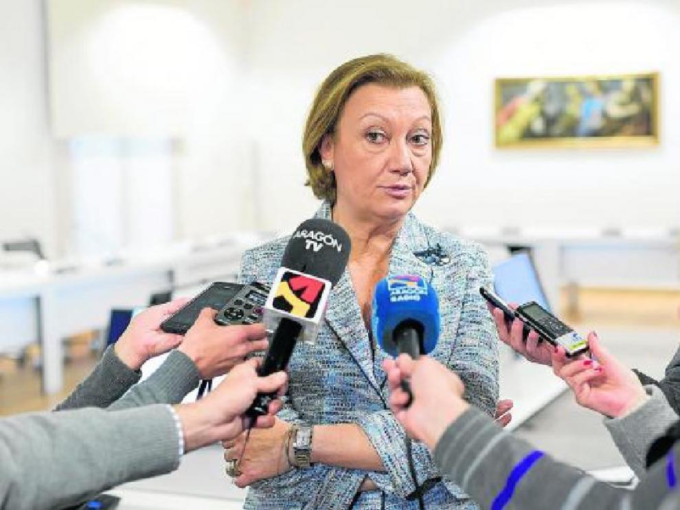 Luisa Fernanda Rudi habló ayer del campus tras la reunión de la Fundación Goya en Madrid.