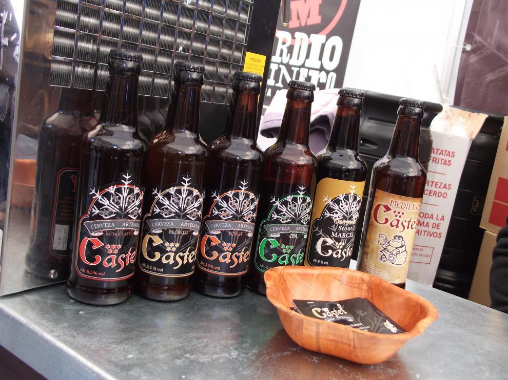 La cerveza turolense Castel, en la Feria de la Cerveza Artesana de Aragón.