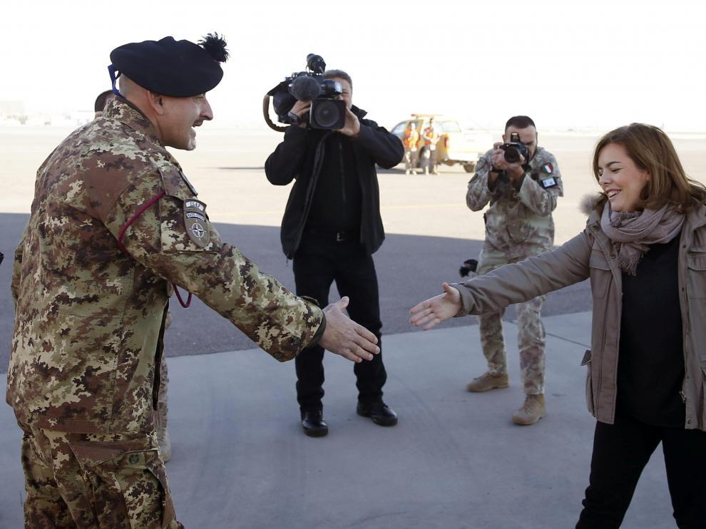 Sáenz de Santamaría en Afganistán