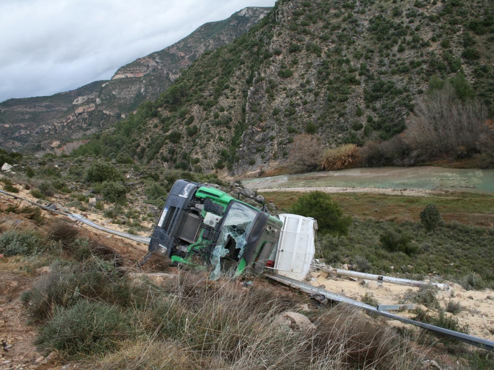 El camión transportaba piensos