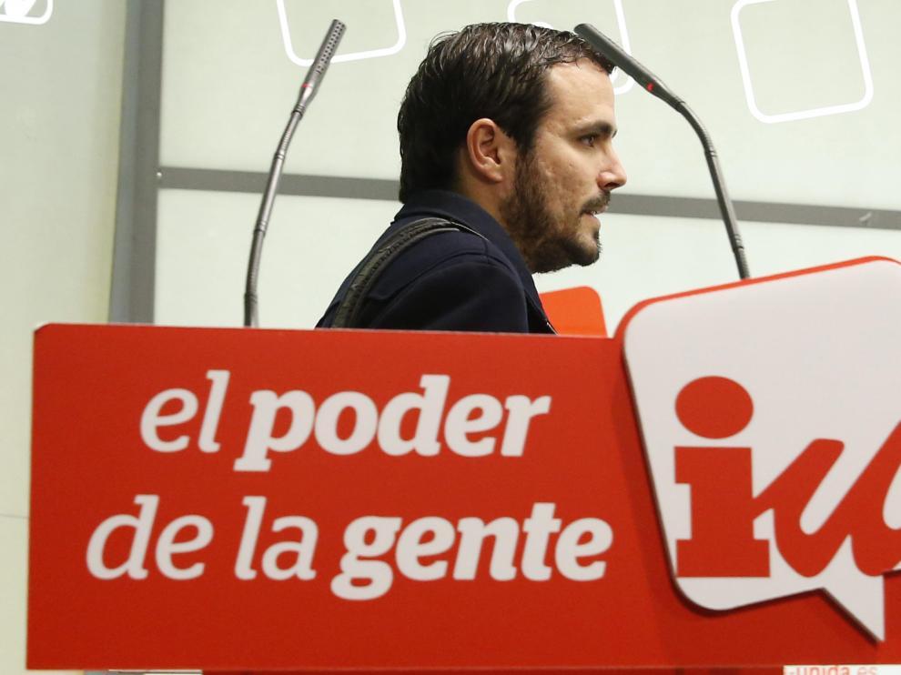 El diputado de IU y aspirante a dirigir la coalición, Alberto Garzón