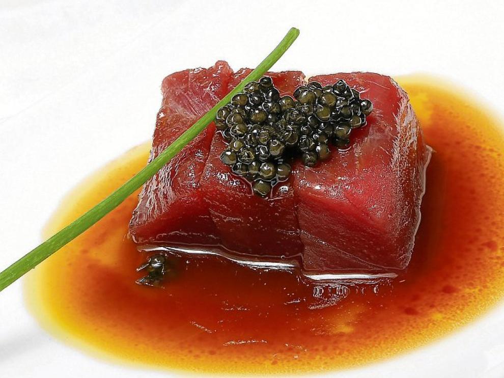 Taco De Atún Rojo Bluefin Con Caviar Osetra Imperial