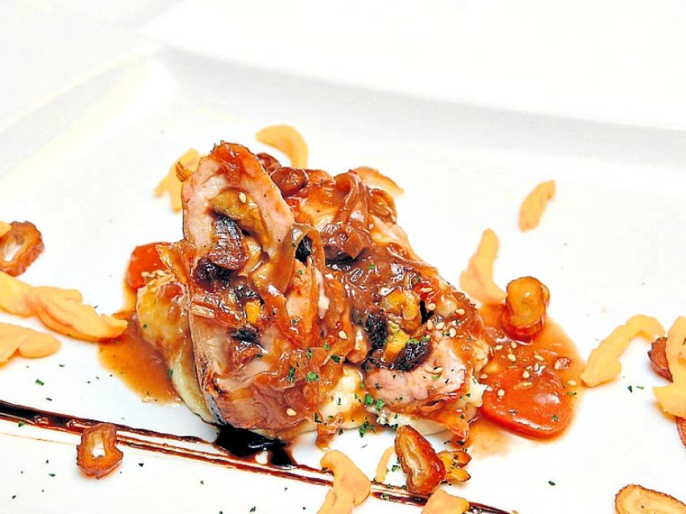 Pechugas de pavo rellenas de foie gras