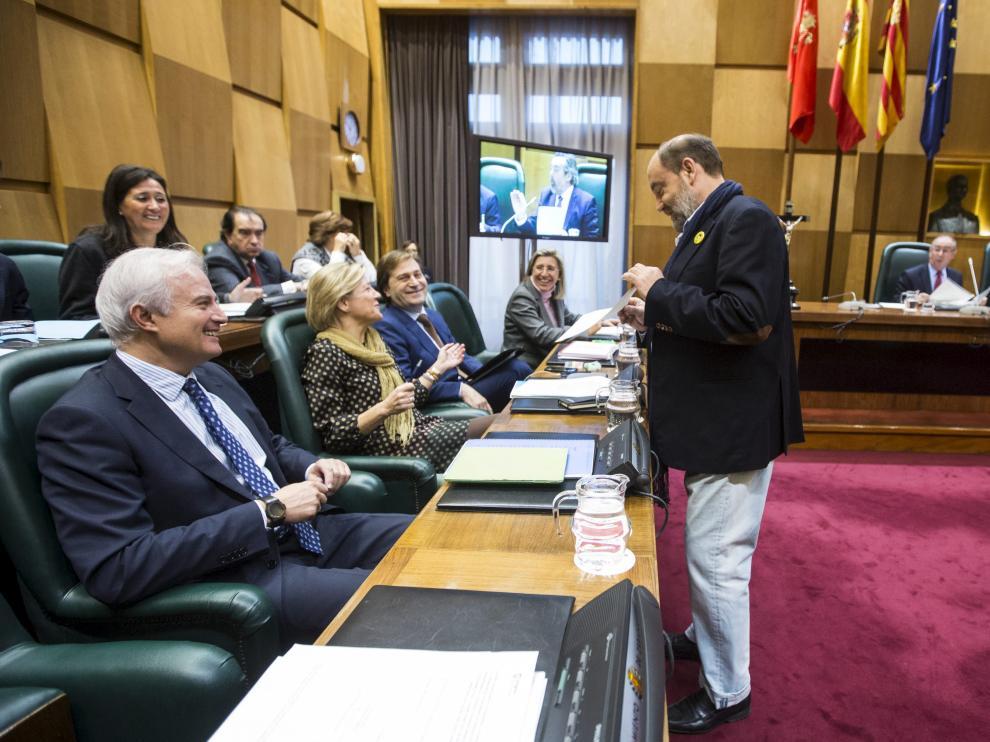 Pleno de este martes en el Ayuntamiento de Zaragoza
