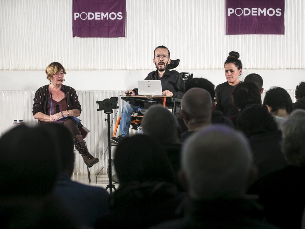 Pablo Echenique, este viernes en Zaragoza