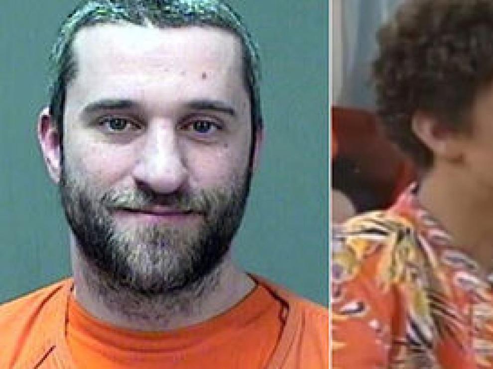 El actor Dustin Diamond en la actualidad, y en la serie que le dio fama