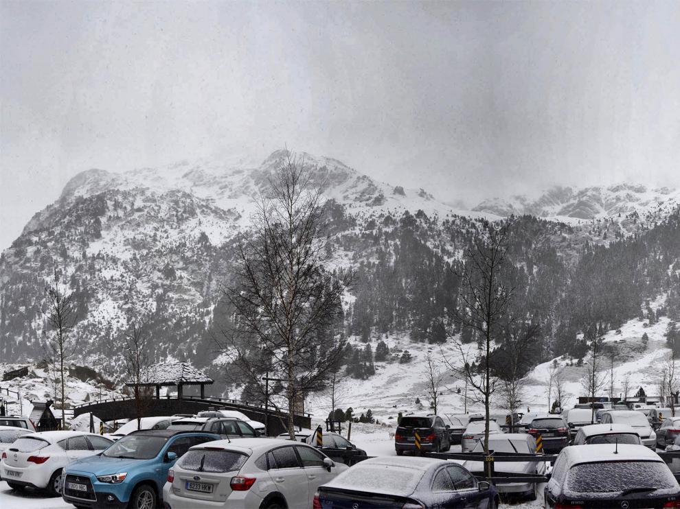 Nieve en Llanos del Hospital este sábado