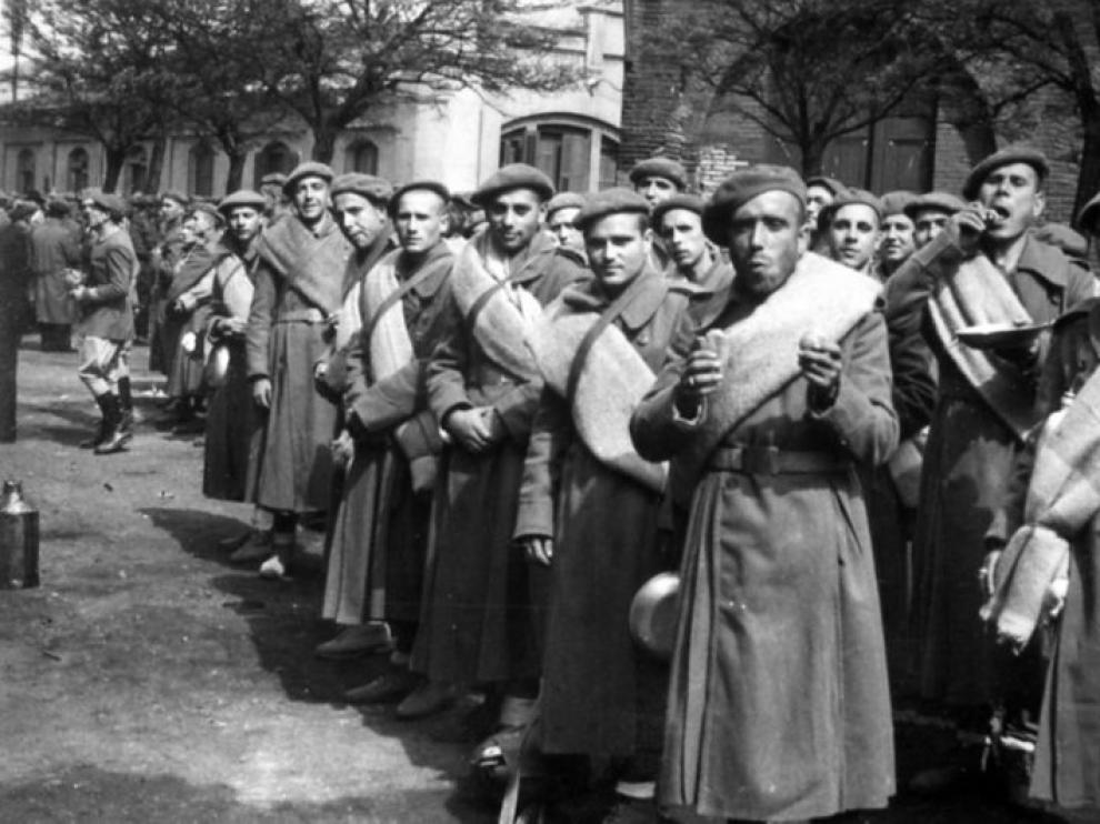 Voluntarios de la División Azul, a punto de partir hacia Alemania