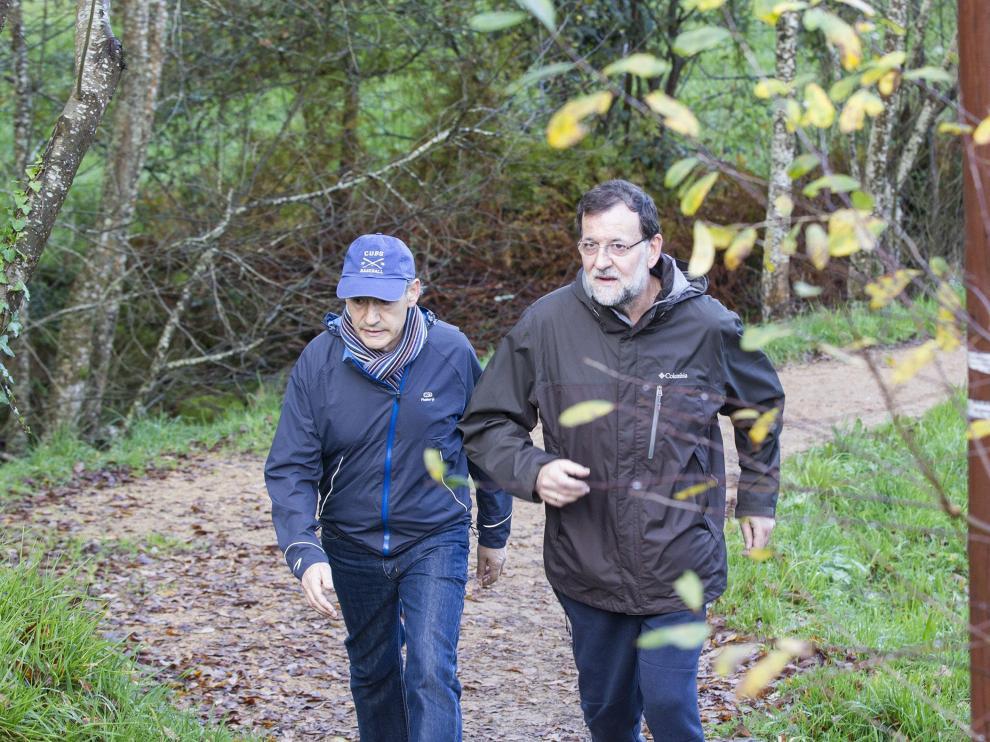 Mariano Rajoy, de paseo