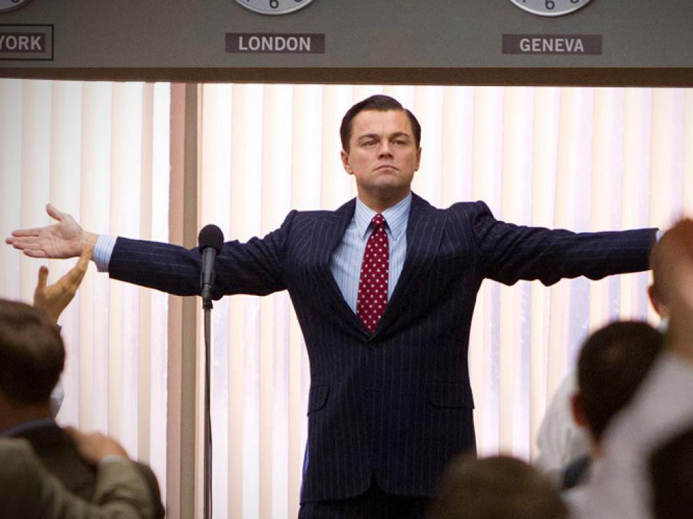 Un fotograma de Leonardo DiCaprio en El Lobo de Wall Street