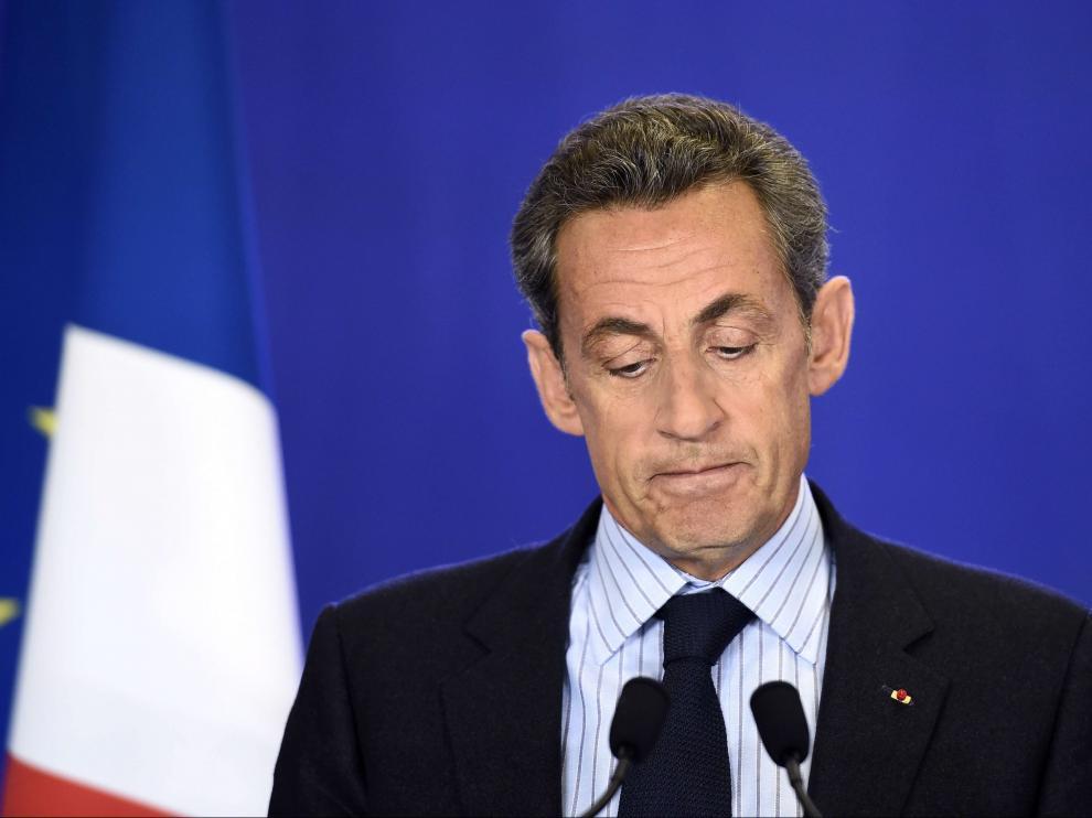 Sarkozy en un discurso dado este miércoles en París
