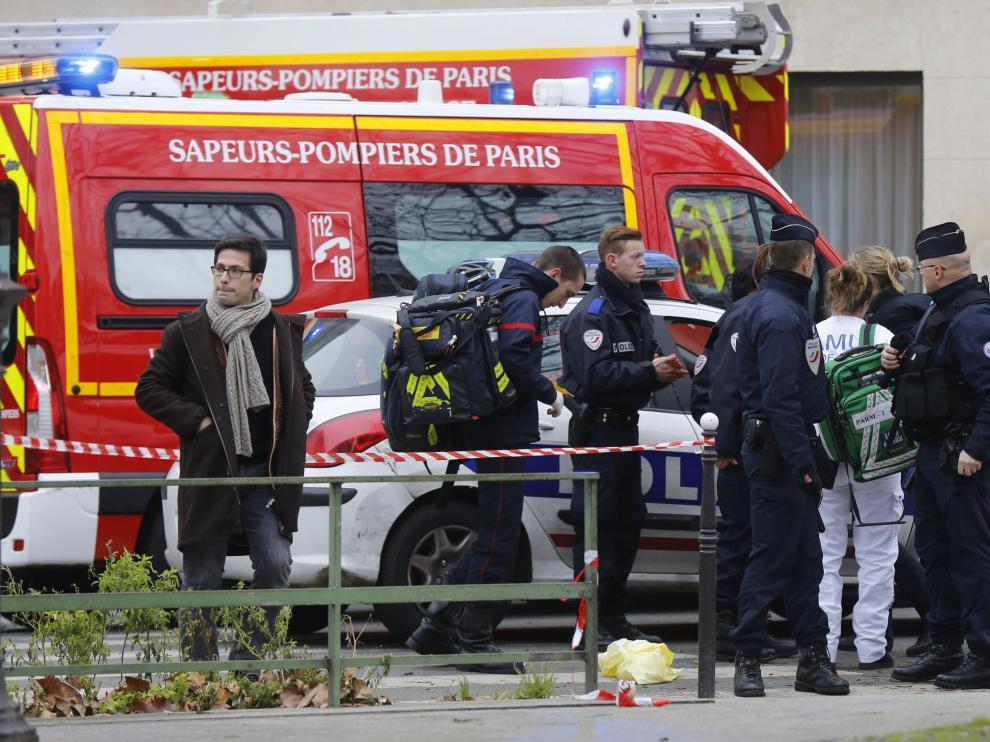 Imagen del ataque terrorista a 'Charlie Hebdo' en enero de 2015.