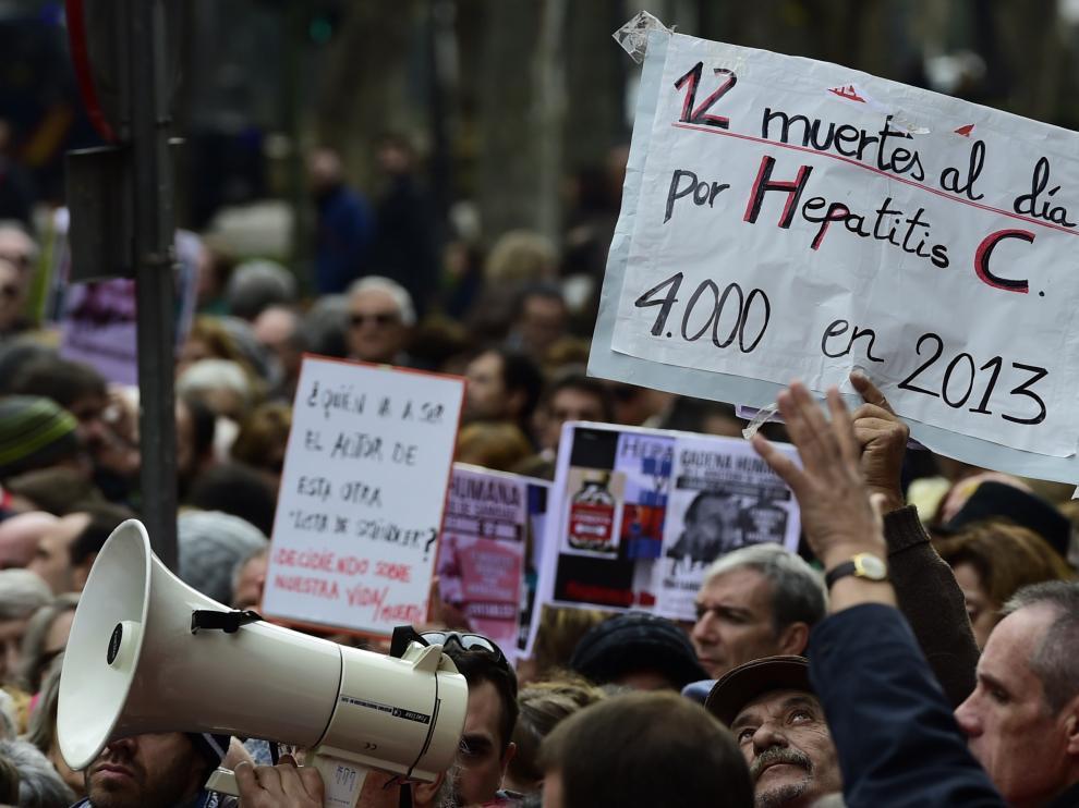 Imagen de una protesta en el hospital 12 de Octubre de Madrid.