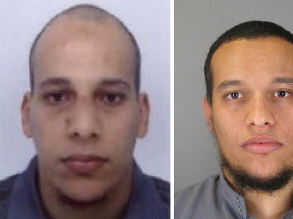 los hermanos Said y Cherif Kouachi, de 34 y 32 años.