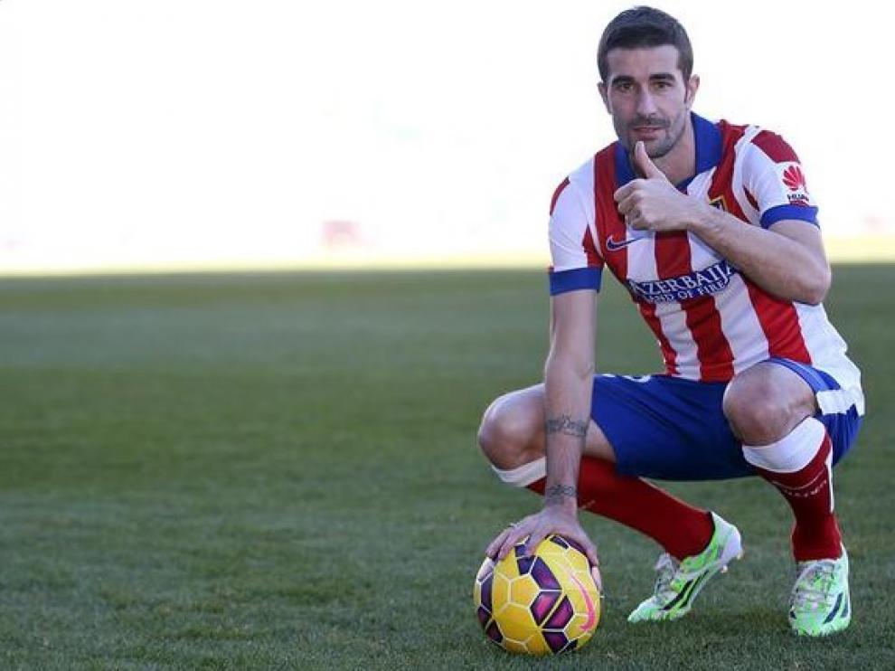 Cani, en su presentación con el Atlético de Madrid