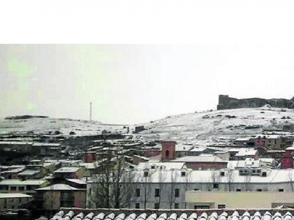 Cedrillas, uno de los puntos más fríos de Aragón.