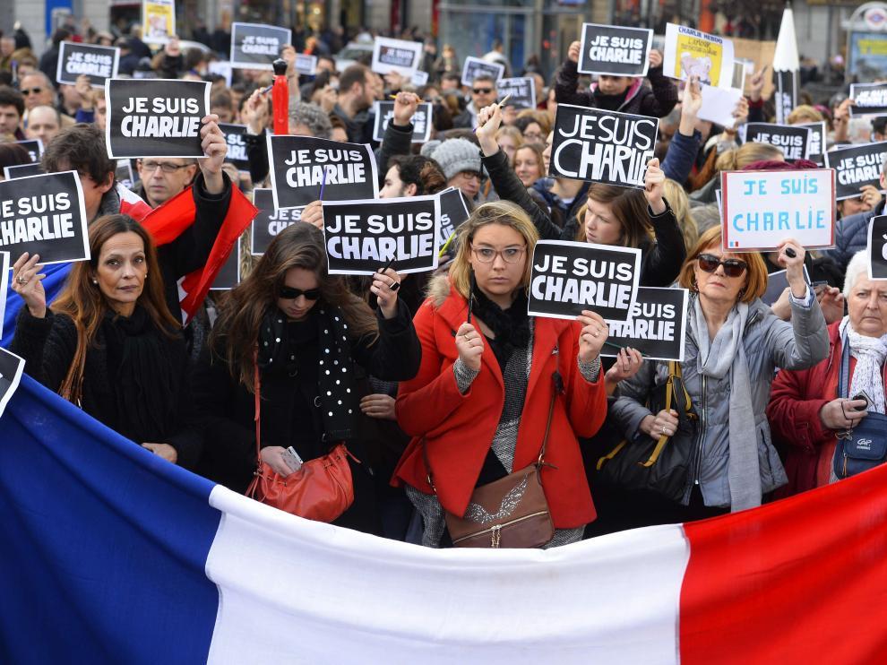 Concentración de repulsa en Madrid por los ataques de París