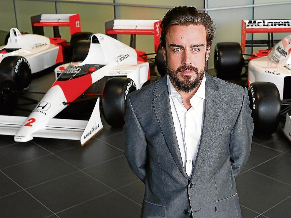 Fernando Alonso, durante la presentación con su nuevo equipo, McLaren-Honda.
