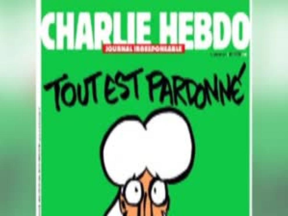 """Charlie Hebdo saca en portada una caricatura de Mahoma con la frase """"todo perdonado"""""""