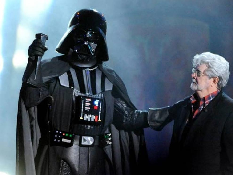 George Lucas con Darth Vader.