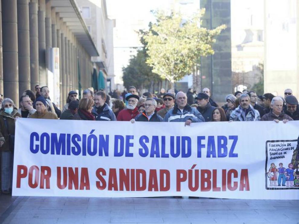 Concentración de los enfermos de hepatitis C en Zaragoza