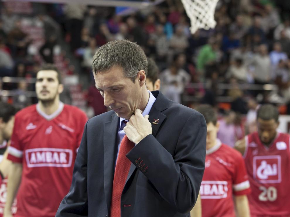 ?Ruiz Lorente, durante un partido en el Príncipe Felipe
