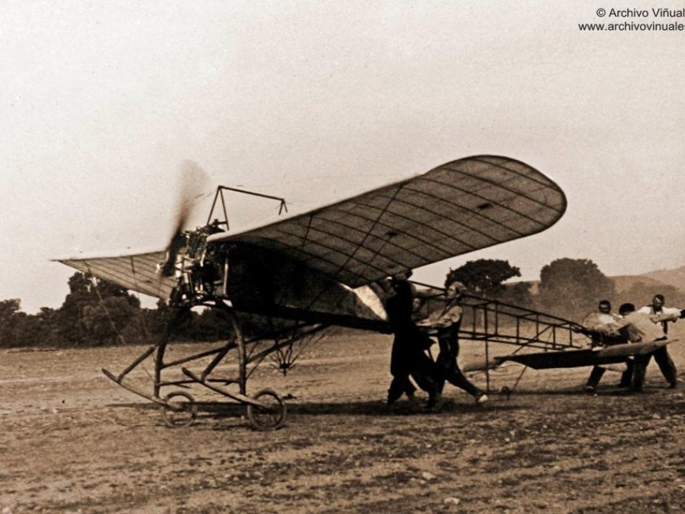 El aviador oscense Gregorio Campaña, en 1911. Foto: Archivo Viñuales
