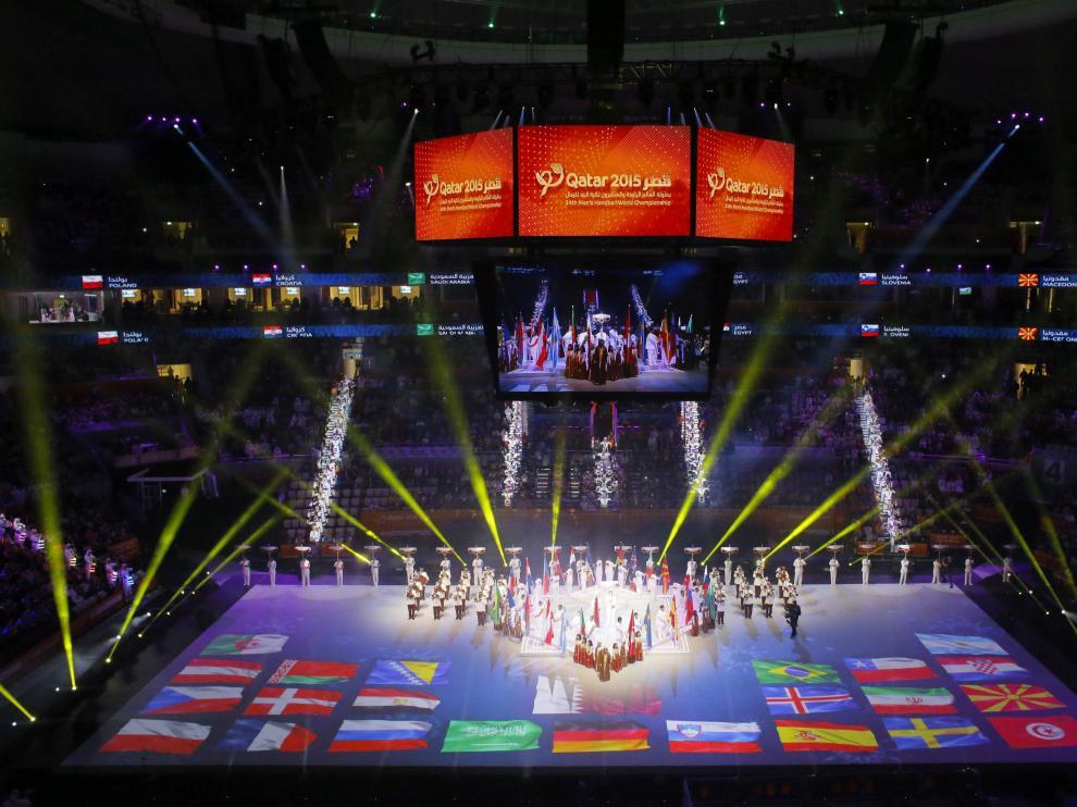 Inauguración del Mundial de Balonmano de Qatar