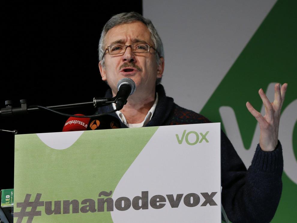 José Antonio Ortega Lara en un acto de Vox.