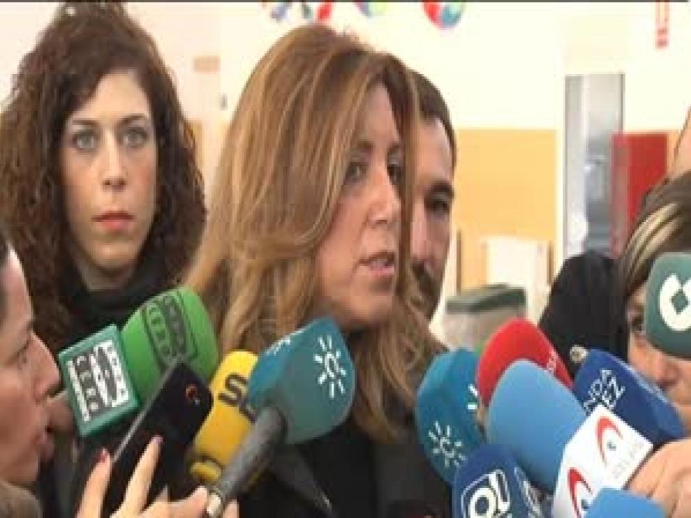 Susana Díaz acusa a Pablo Iglesias de ir a Andalucía a insultar y mentir