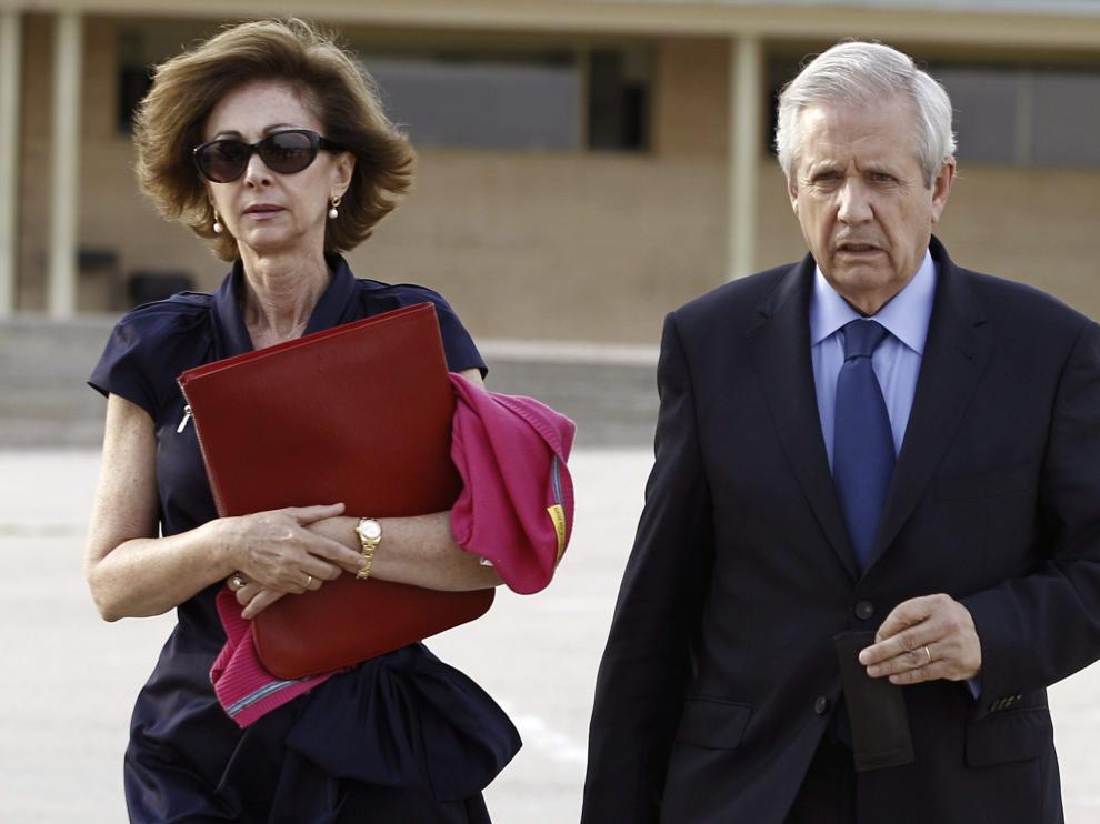 Javier Gómez de Liaño y su esposa, la también letrada María Dolores Márquez de Prado, en 2013