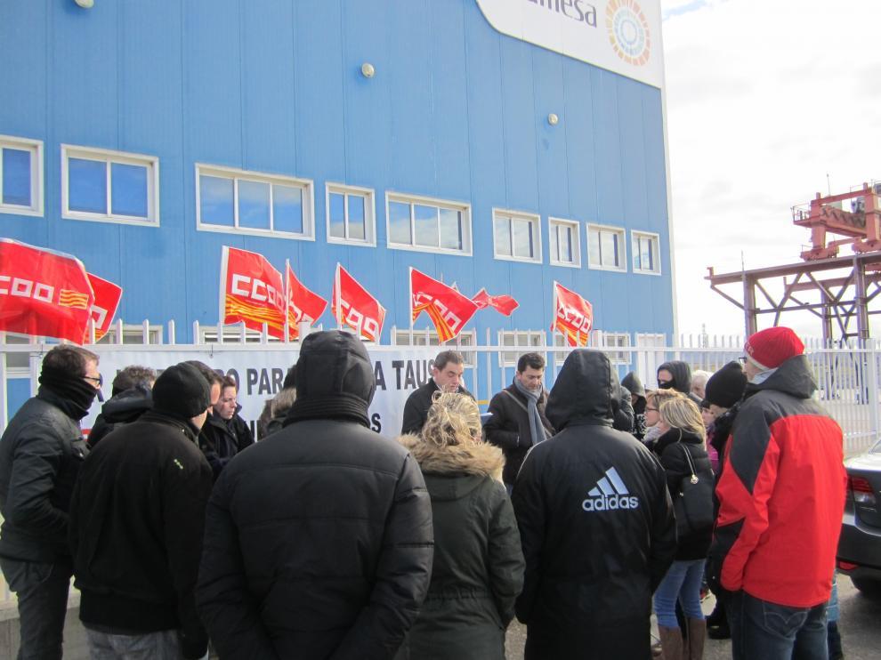 Concentración frente a las oficinas de Gamesa