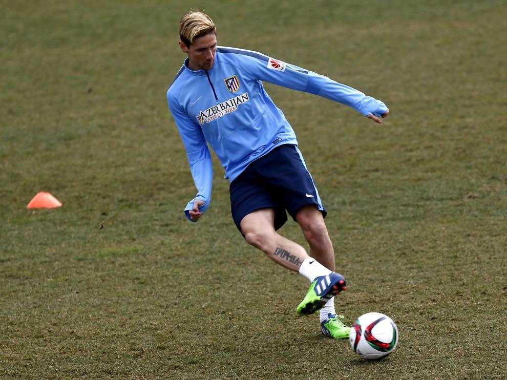 Torres durante un entrenamiento