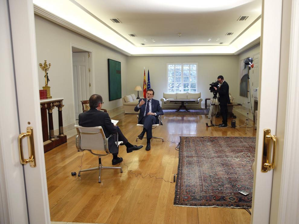Mariano Rajoy en una entrevista reciente con la agencia Efe