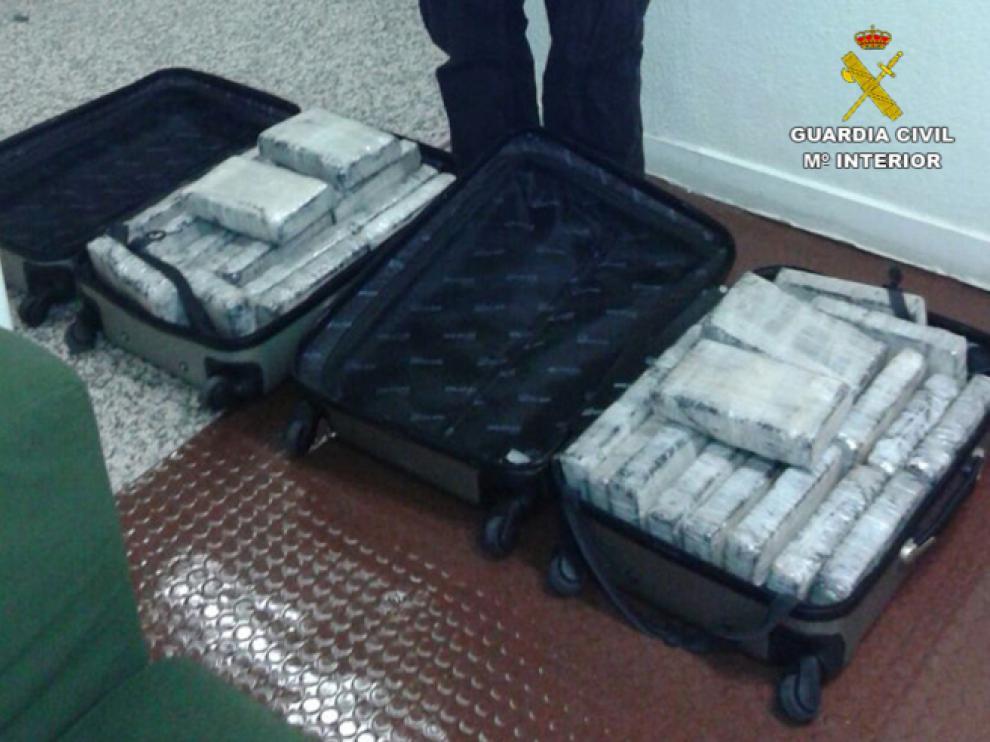 Cinco detenidos de una red gallega que pretendía introducir casi 47 kilos de cocaína