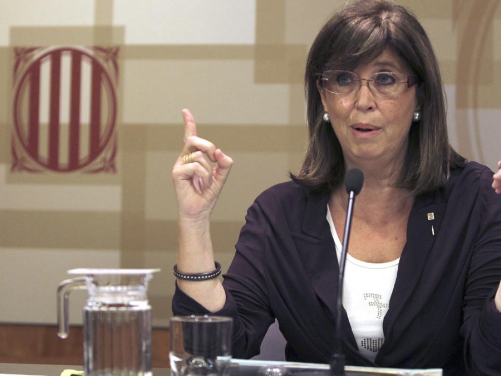 La consejera catalana de Educación, Irene Rigau