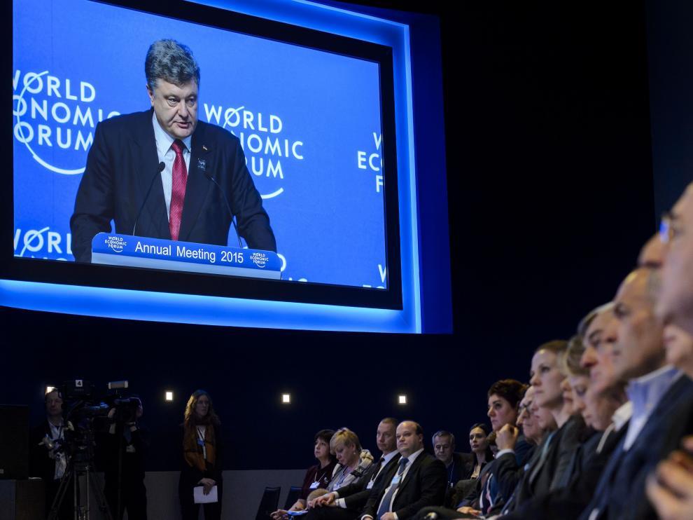 Intervención de Poroshenko en Davos