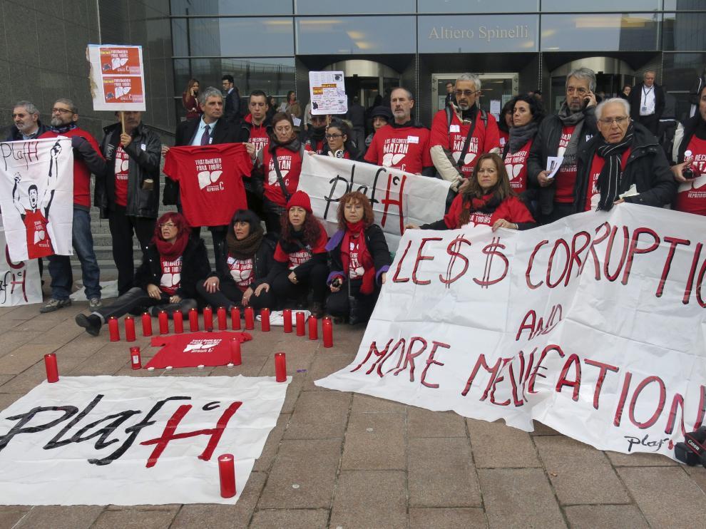 Afectados por la hepatitis C en Bruselas
