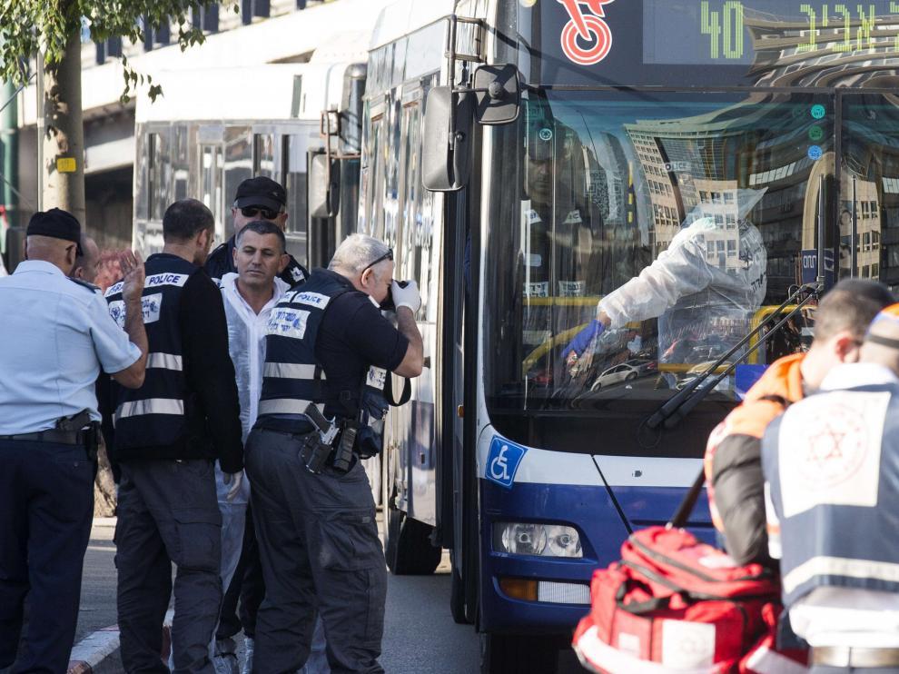 Ataque en un autobús israelí