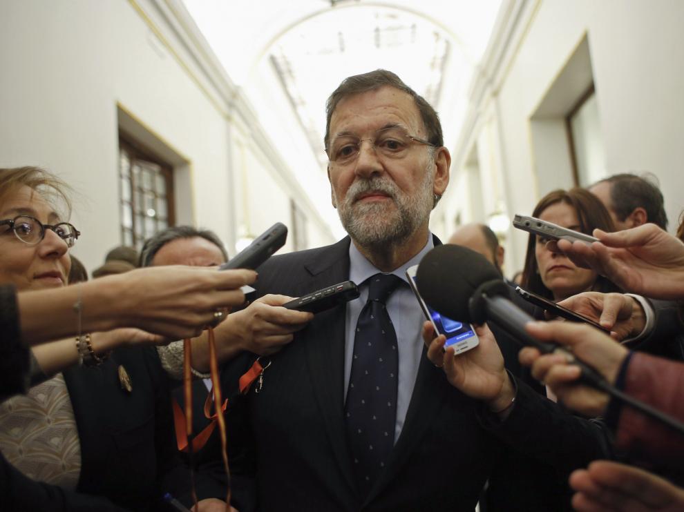 Mariano Rajoy habló a su entrada al Congreso