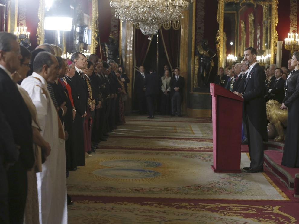 Felipe VI y la Reina se presentan al cuerpo diplomático acreditado en España en el Palacio Real