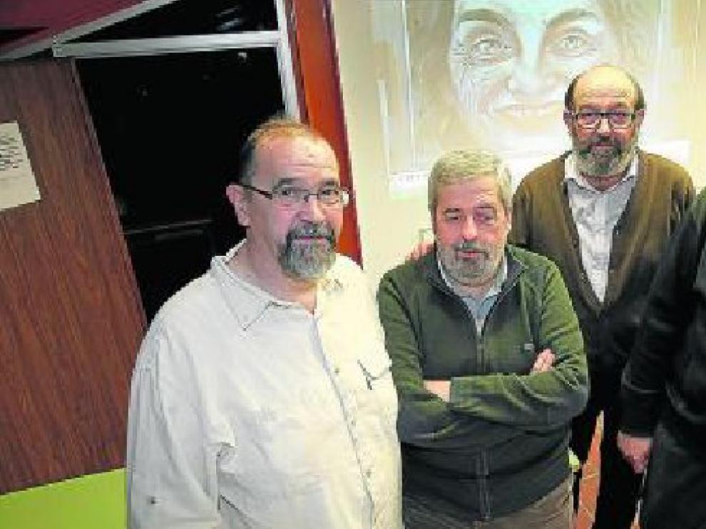 Por la izquierda, Pascual Berniz, Manuel Saz, Anacleto Armunia y Rafael Ibáñez.