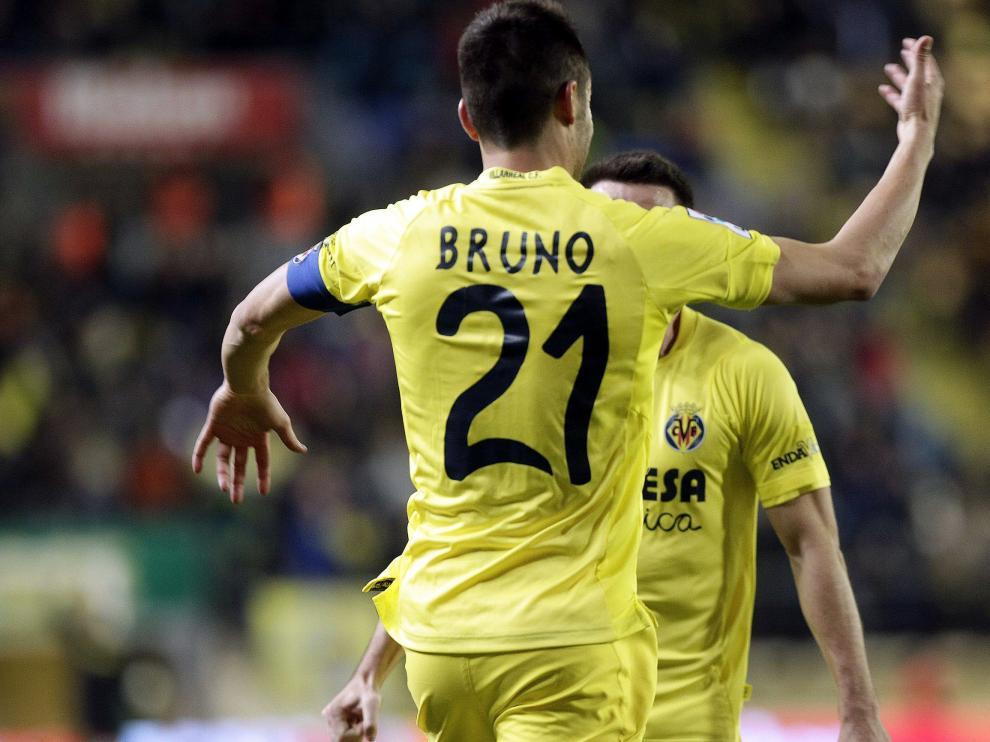 Bruno celebra el gol de la victoria