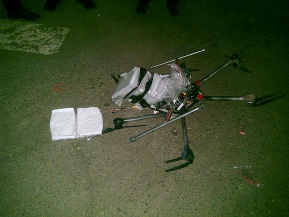 Dron interceptado por la Policía