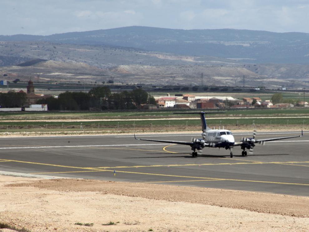 El aeródromo de Caudé aumentó su actividad en 2014