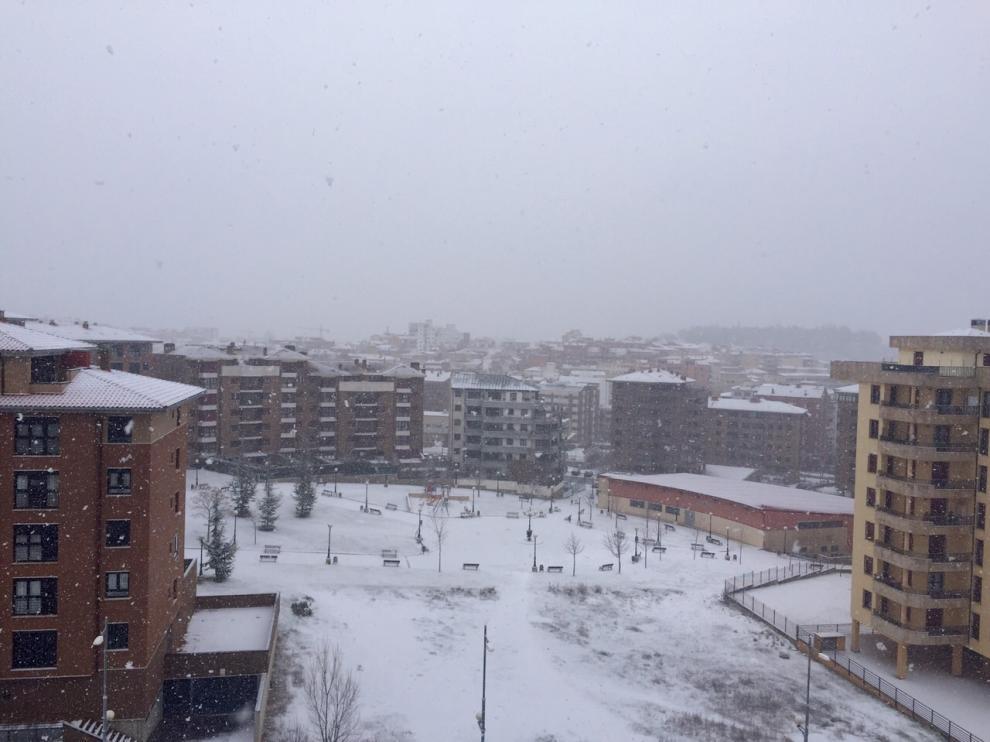 Vuelve a nevar en Soria