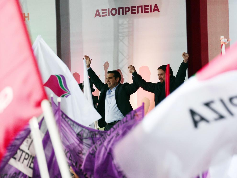 ?Tsipras  y Pablo Iglesias este jueves