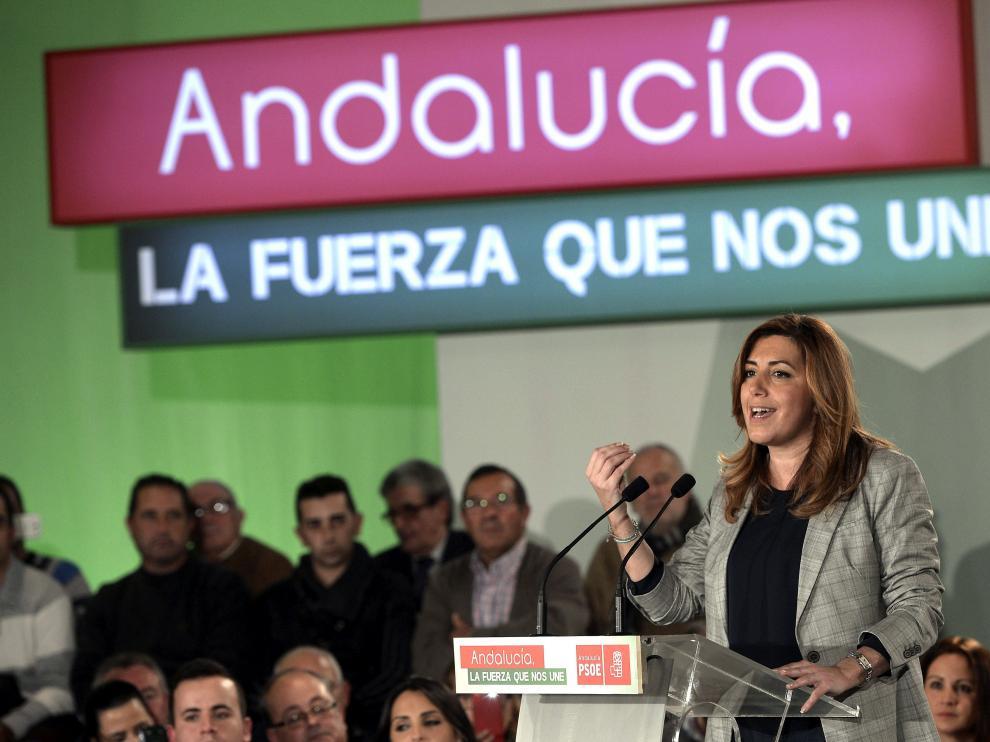 Susana Díaz, en un acto este jueves