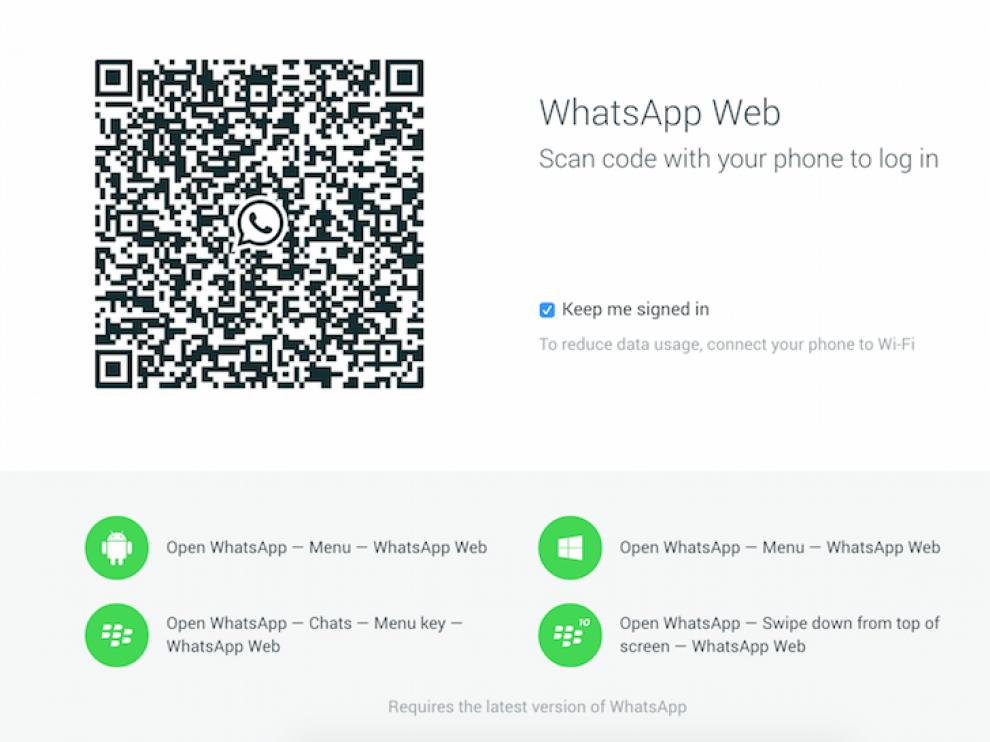 Captura de pantalla del nuevo sistema de WhatsApp