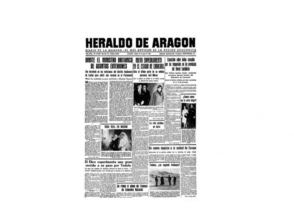 Portada de HERALDO el día 23 de enero de 1965